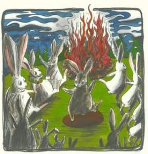 Her leger kaninerne en sangleg