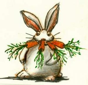 Til morgenmad får Prikken gulerødder og til frokost spiser Prikken gulerødder og slutter dagen af med et festmåltid af gulerødder.